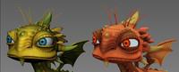 3d model creatures fantasy dragon