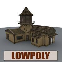 medieval house buildings 3d model