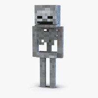 3d model minecraft skeleton