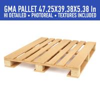 3d 3ds wood pallet