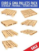 wood pallets pack 3d 3ds