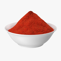 bowl red curry powder 3d model