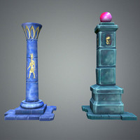 3d model fantasy pillar