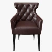 3d model guinea carver chair