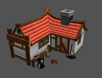 cartoon blacksmith smith 3d c4d