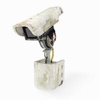 3d cctv camera rigged