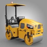 utility compactor cat cb34b 3d model