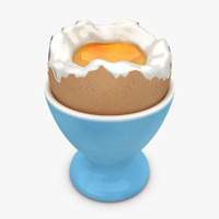realistic soft boiled egg 3ds
