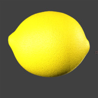 lemon fruit 3d model
