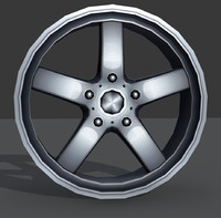 light alloy rim - 3d max