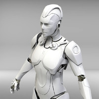 cyborg sci-fi robot 3d obj