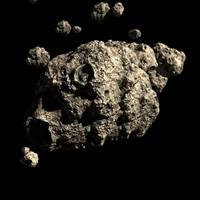 Asteroid Field Scene