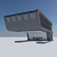 - futuristic office building max