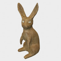3d hare wooden wood