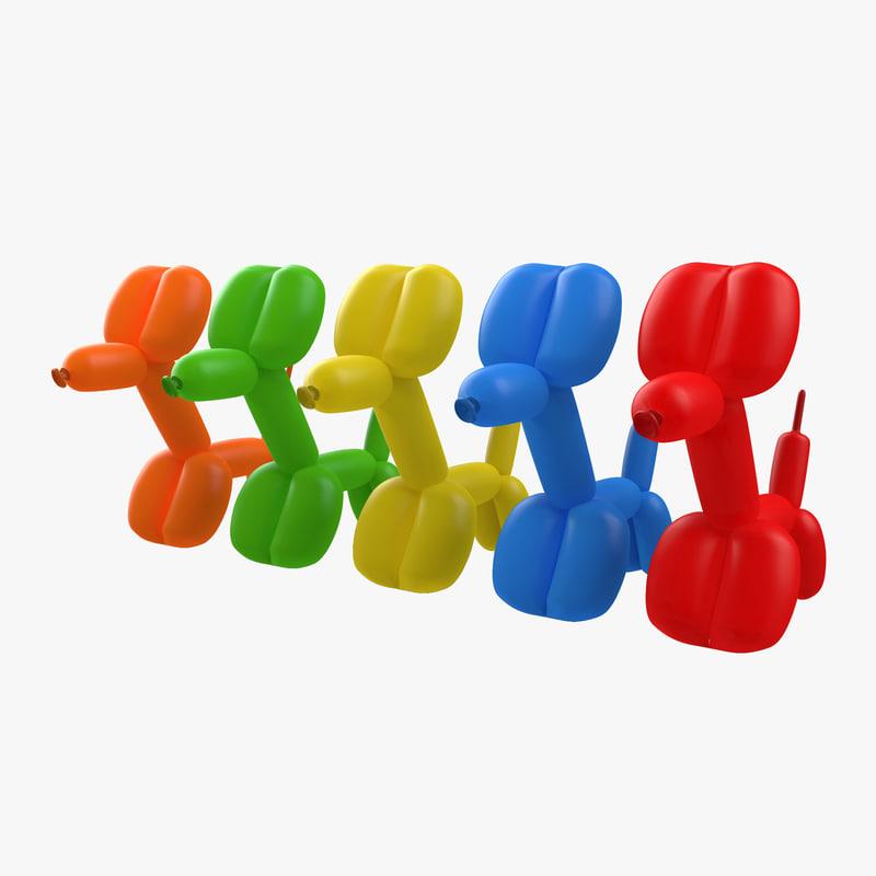 Balloon Dogs Set 3d models 01.jpg