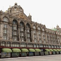 3d historic shopping mall harrods