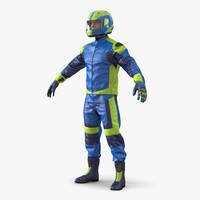 3d motorcycle rider generic