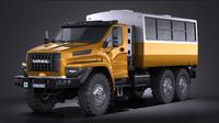 3d gaz ural 2015 model
