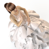 3d model evening wedding dress
