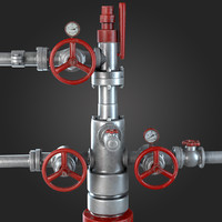 Industrial Pipes with Gauges