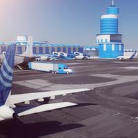 3d model cool airport