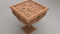 3d ornament table model