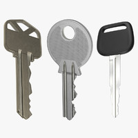 house keys car design 3d model