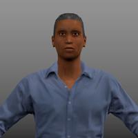 black man 3d model