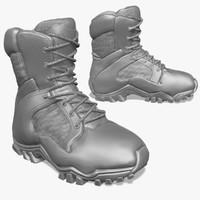 zbrush sculpt tactical boots 3d model