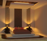 bed design 3d obj