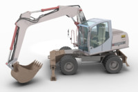 3d model of terex tw 170 excavator