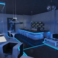nightclub scene 3d max