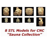 3d 8 stl cnc model