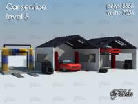 car service level 5 3d model