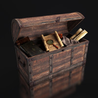 3d old chest artifacts model