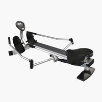 gym equipment rowing machine 3d model