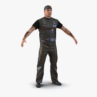 biker man 2 3d model