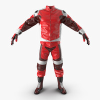 3d model riding gear generic 2