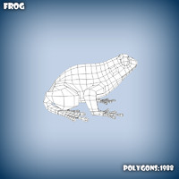 base mesh frog 3d c4d