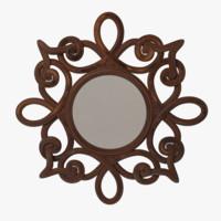 wall mirror 3d max