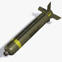 cbu-87 bomb 3d max