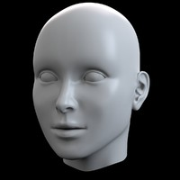 3d model basemesh female head mesh