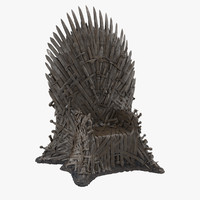 iron throne 3d max