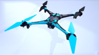 Low poly Quadrocopters - Galaxy Visitor