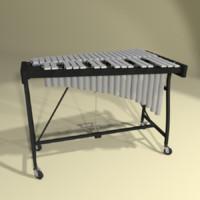 vibraphone xylophone instrument 3d blend