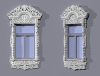 window frames indow 3d obj