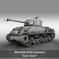 m4a3e8 sherman - easy 3d lwo