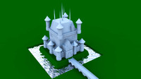 3d model of fantasy castle