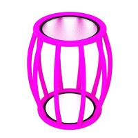 pink table 3d model