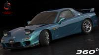 3d mazda rx-7 type-a 2002 model
